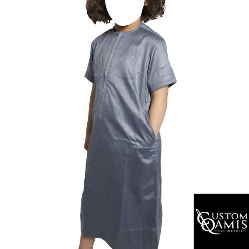custom qamis gris